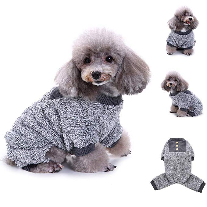 Fashion Pet Dog Winter Clothes Plush Pajamas Warm Clothes Puppy