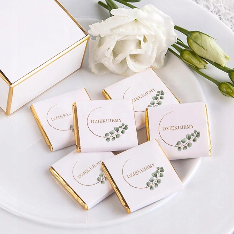Czekoladka Podziekowanie Chrzest Eukaliptus 8537859078 Allegro Pl Place Card Holders Luxury Wedding Decor Wedding Decorations