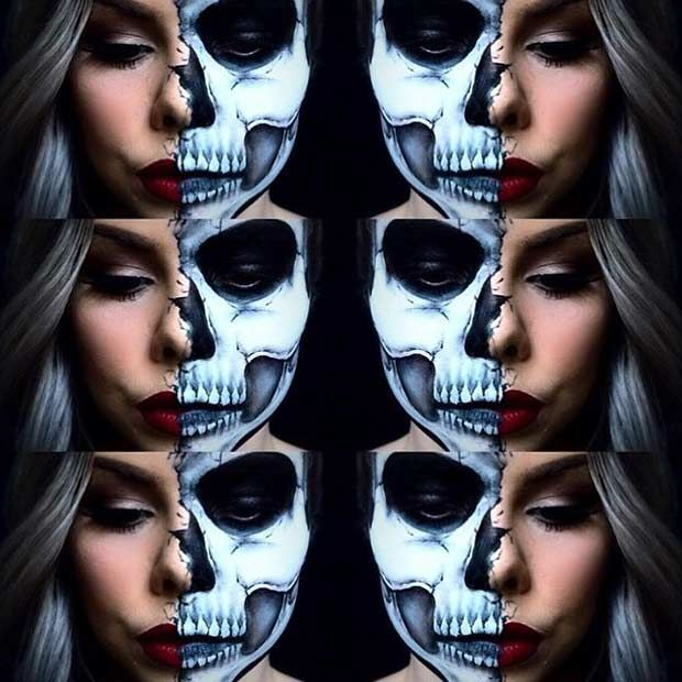 23 cool skeleton makeup ideas to try for halloween - Halloween Skeleton Makeup Ideas