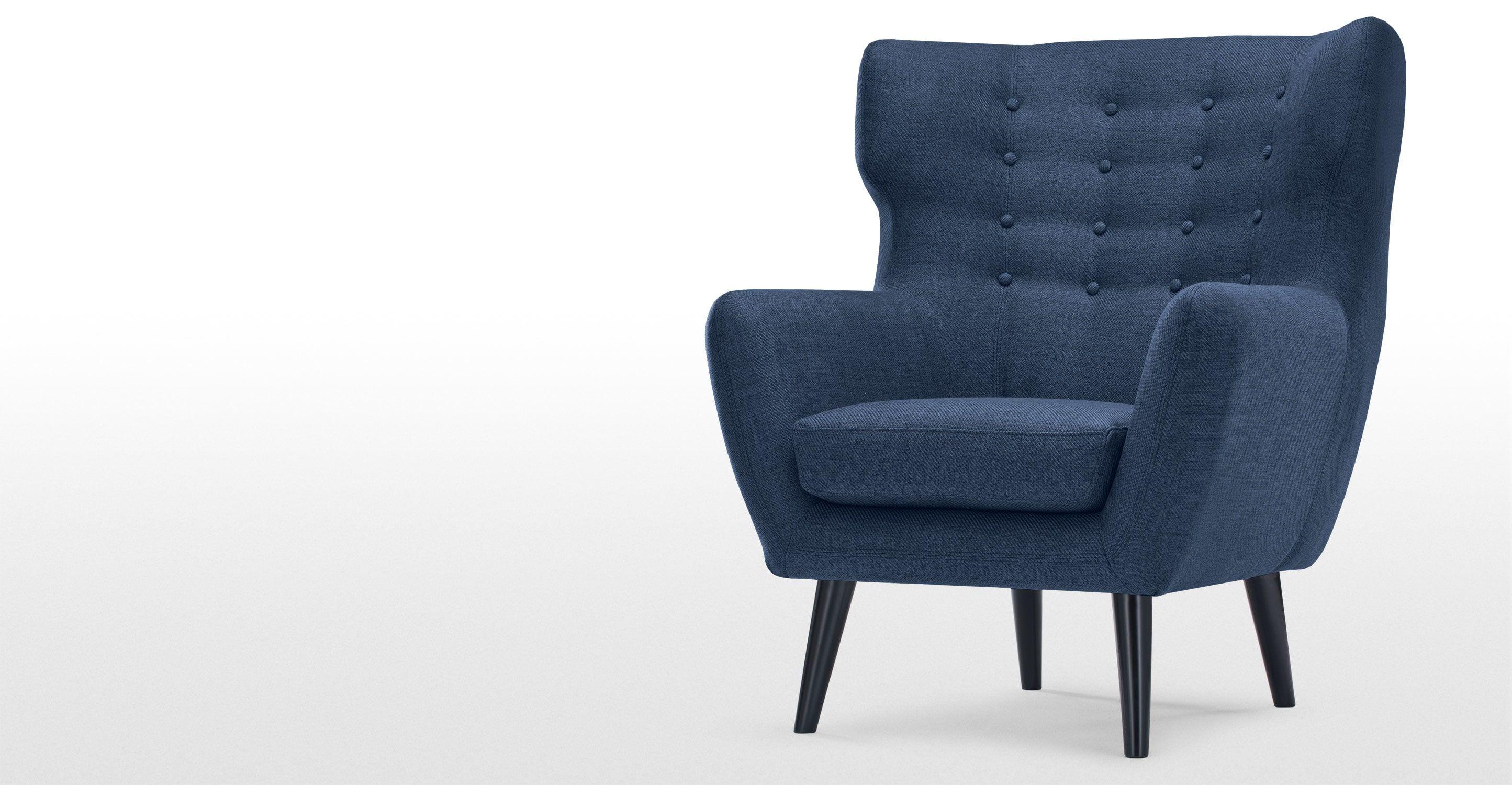 Kubrick Wing Back Chair Scuba Blue Renovation Joe