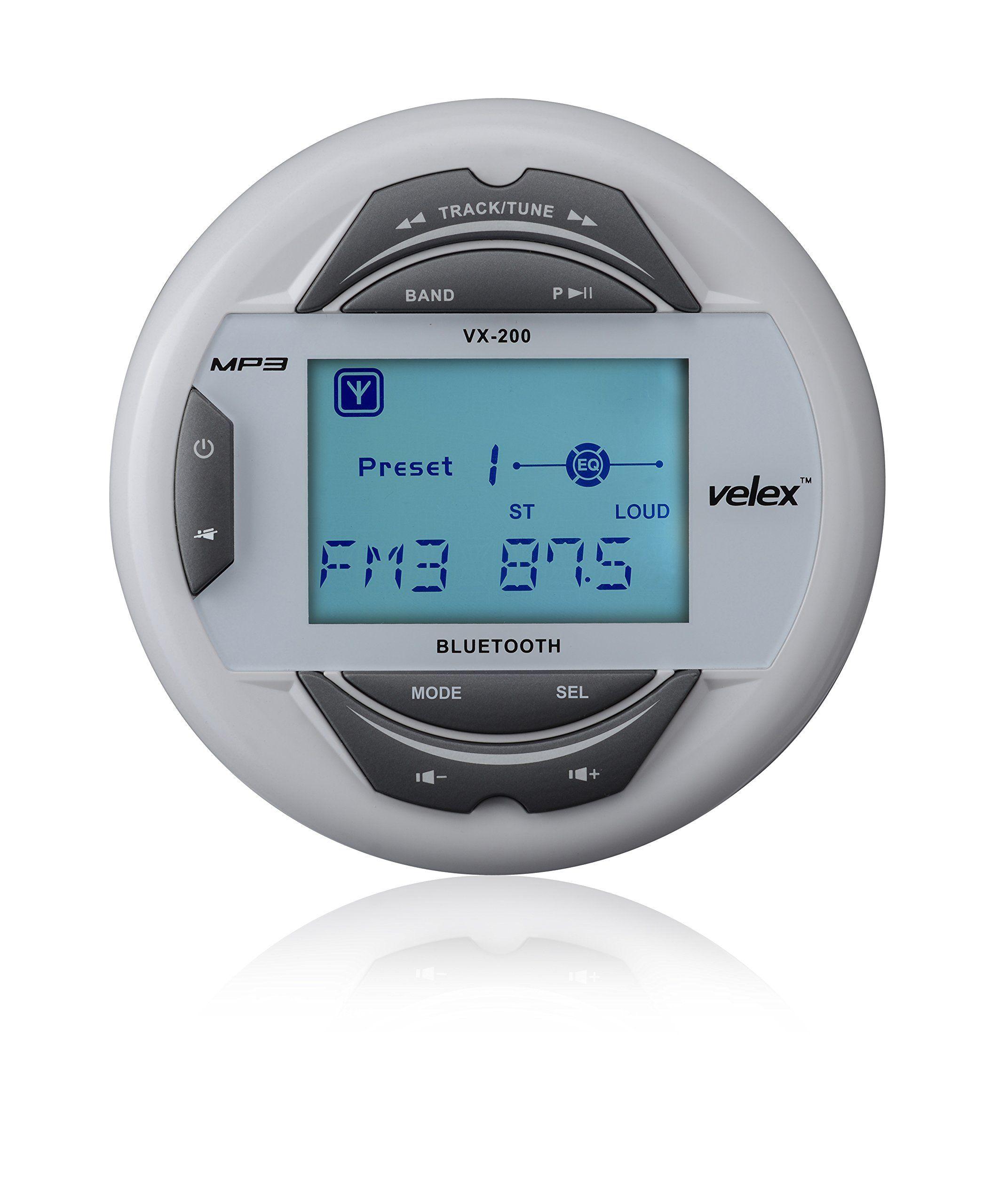 Waterproof Bluetooth Marine Digital Media Stereo Receiver with MP3 ...