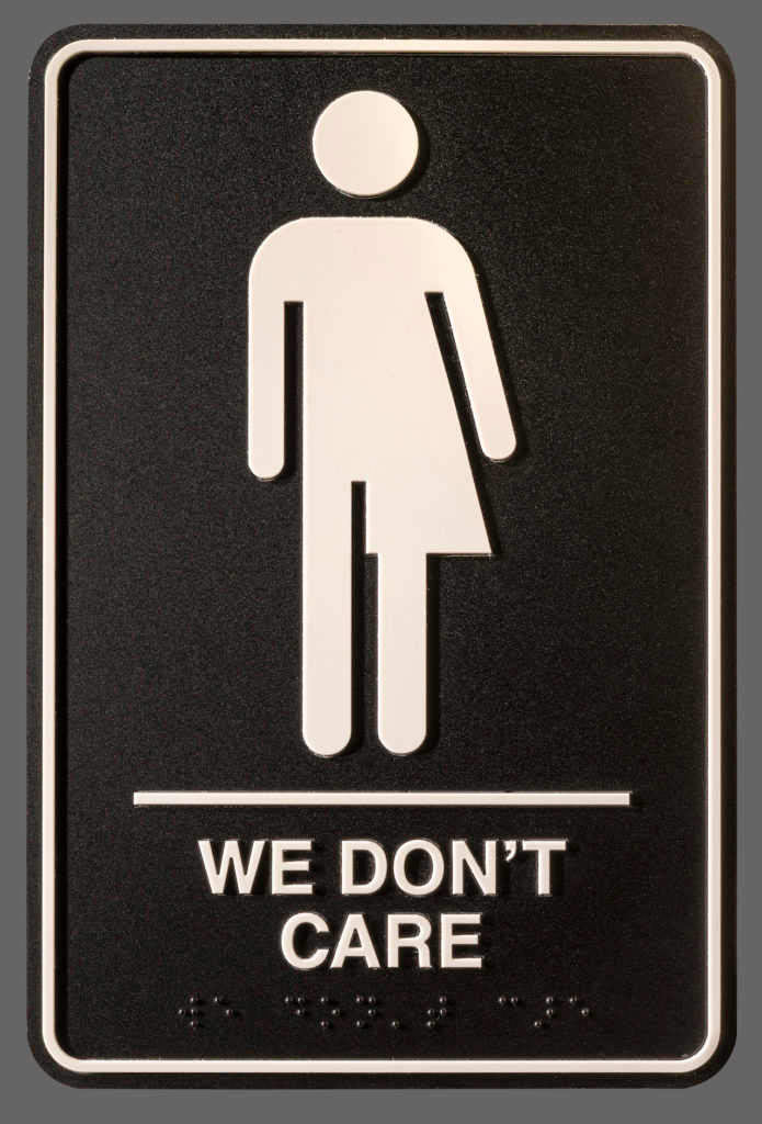 Artist Hopes To Flush Binaries With Gender Neutral Bathroom Sign In 2020 Gender Neutral Bathroom Signs Neutral Bathroom Gender Neutral Bathrooms