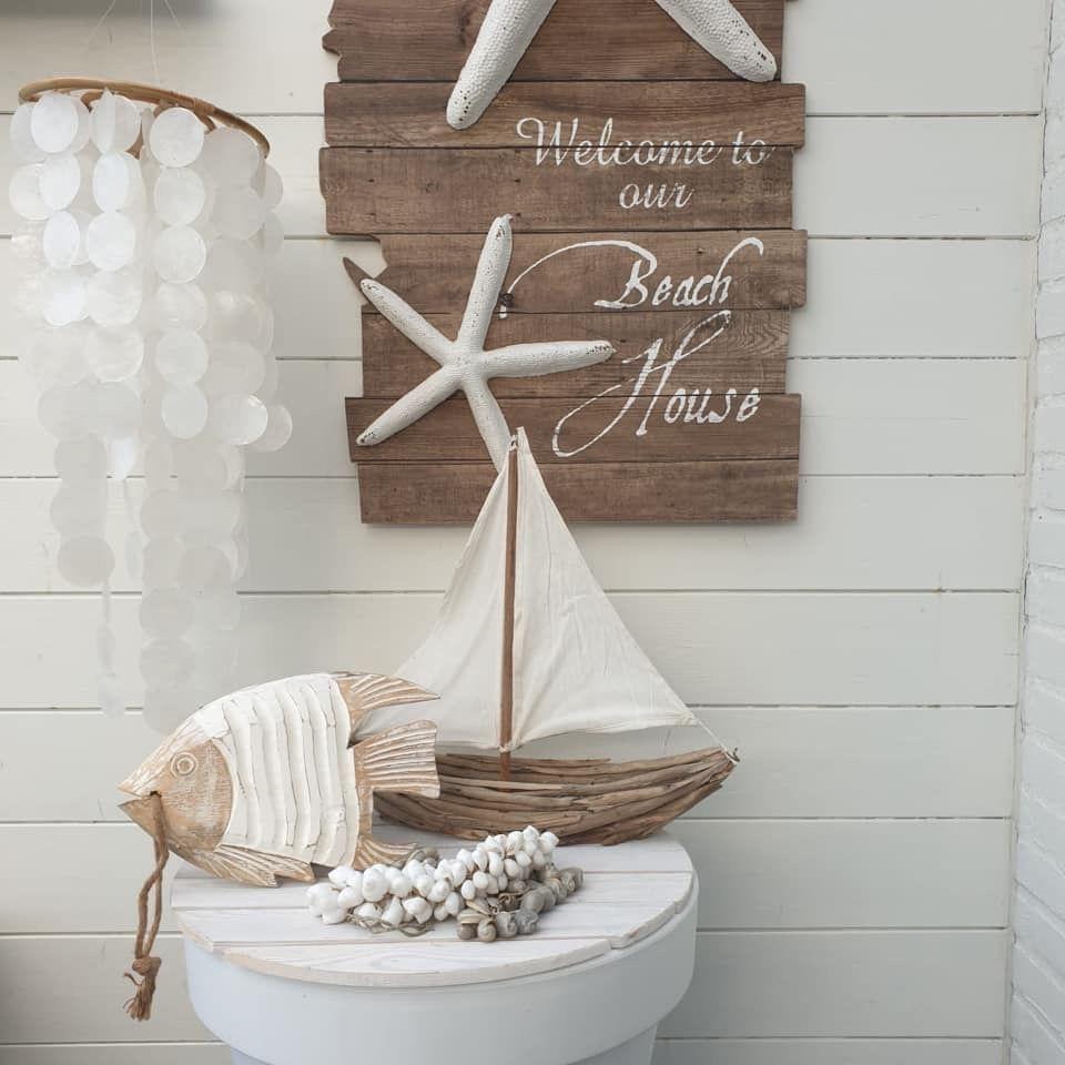 Houten Woonaccessoires Beach Style Woonaccessoires Decoratie Schelpen