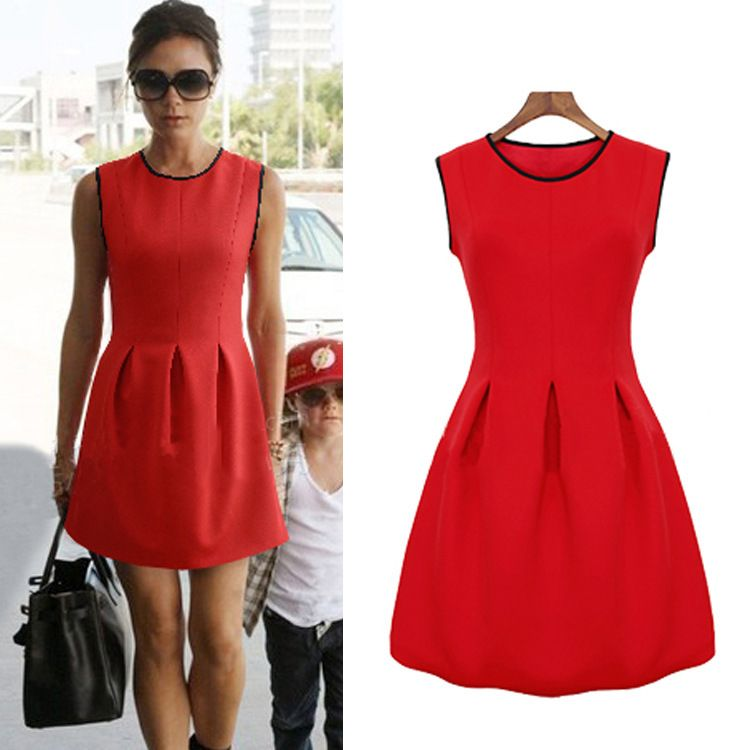 M s red dress meaning