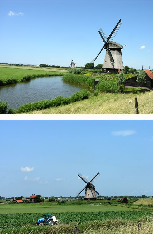 Polder mill Bovenmolen G, Schermerhorn, the Netherlands.