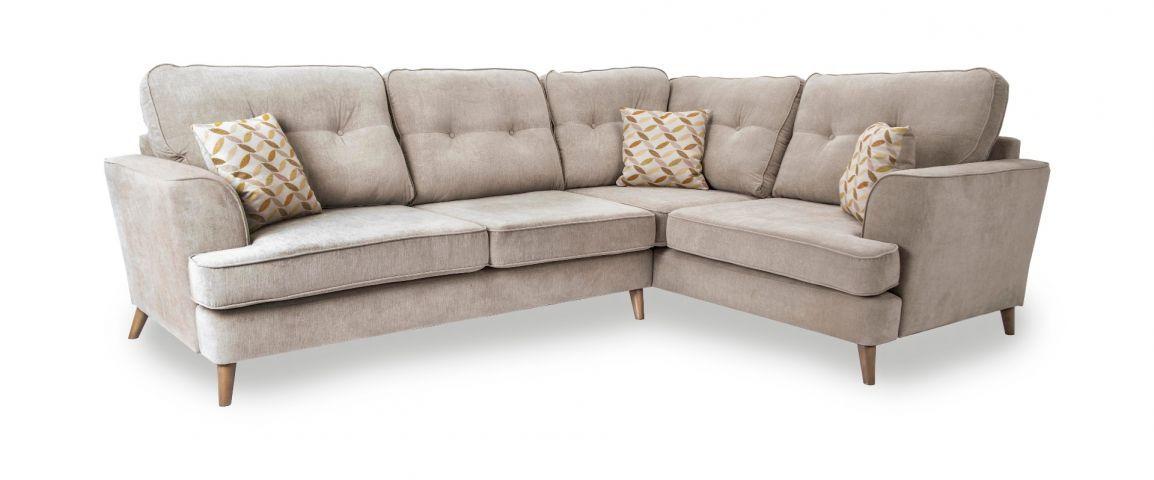 Fabric Corner Sofa Wooden Legs Di 2020
