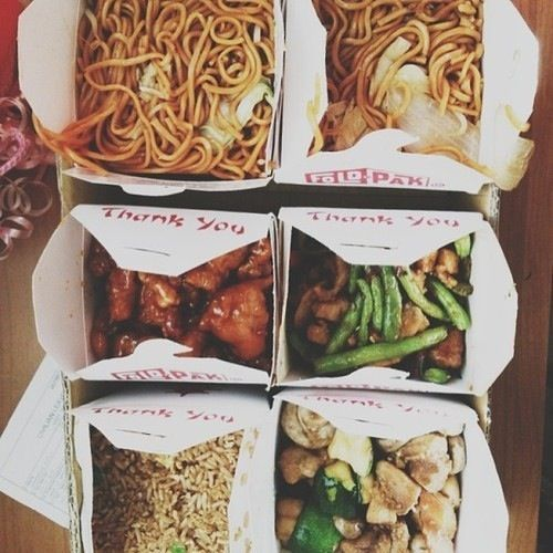 Eat Chinese Any Kind Of Takeout While We Watch Netflix And Then I Ll Lay On Your Lap And You Ll Play With My Hair Pretty Food Love Food Chinese Food