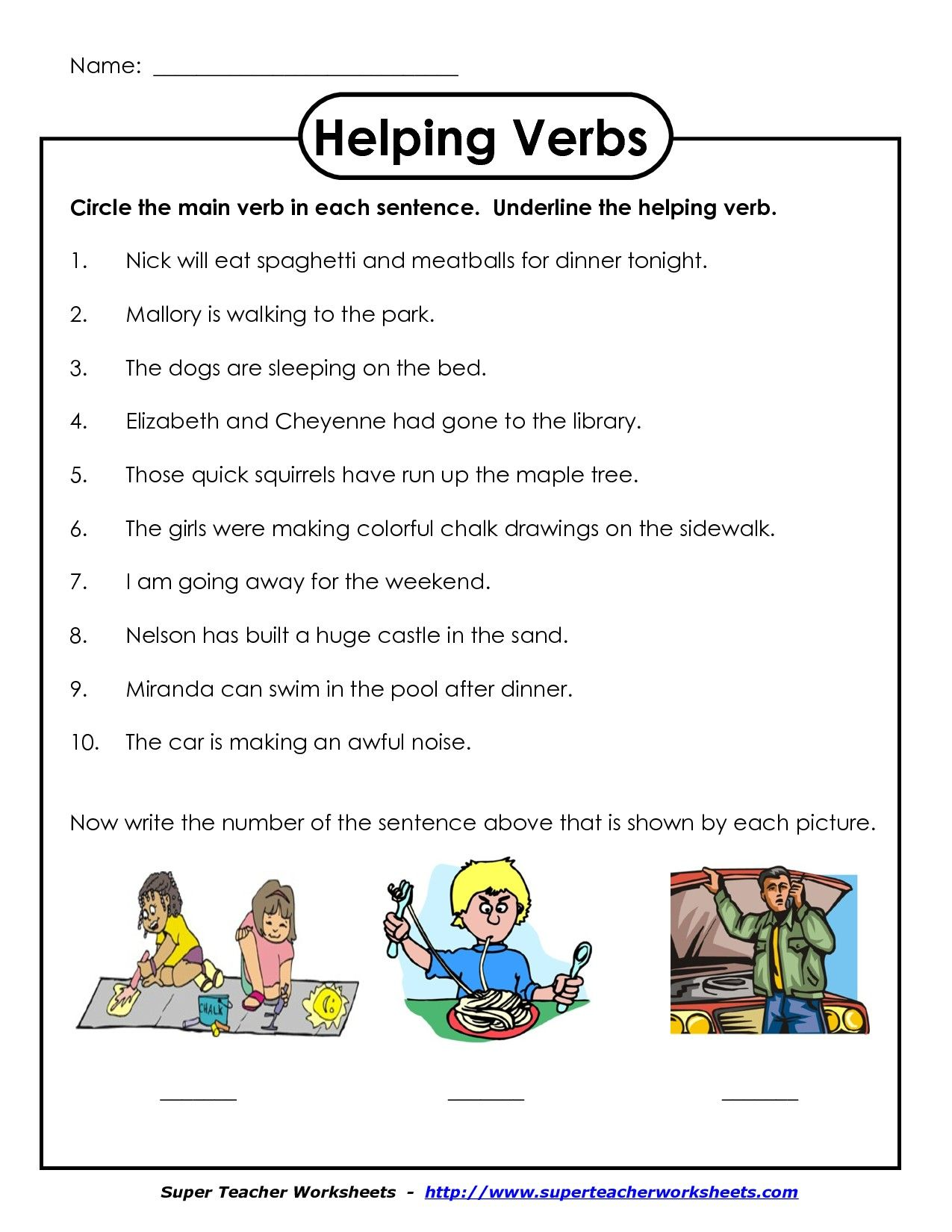 8 5th Grade Verb Worksheets Helping Verbs Worksheet Helping Verbs Verb Worksheets [ 1650 x 1275 Pixel ]