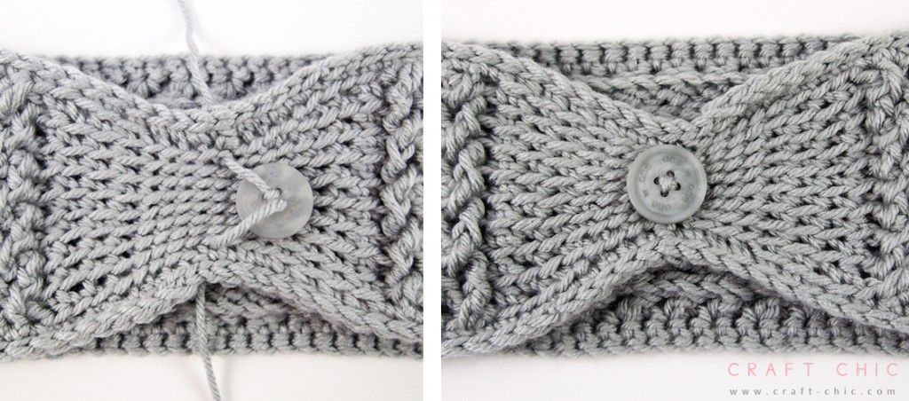 Free Crochet Pattern: Criss Cross Head Wrap {Faux Button}   Crafting ...