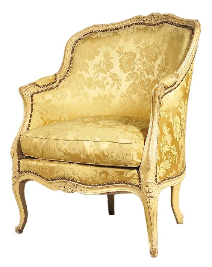 A Painted Louis XV Bergere From Miguel Meirelles French Furniture   Antiques  Melbourne Australia. A Painted Louis XV Bergere From Miguel Meirelles French Furniture