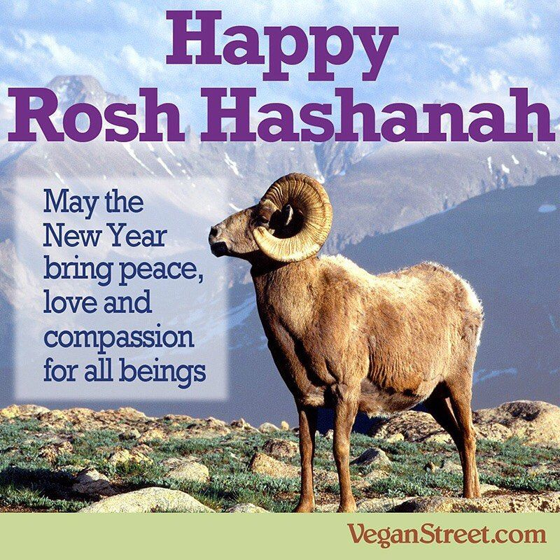 Happy Jewish New Year From Vegan Street We Hope That The Year 5780 Brings Compassion And Peace To All Rosh Hashanah Happy Rosh Hashanah Nutritional Breakfast