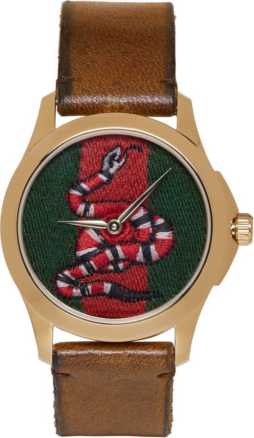 Gucci - Gold Medium G-Timeless Snake Watch