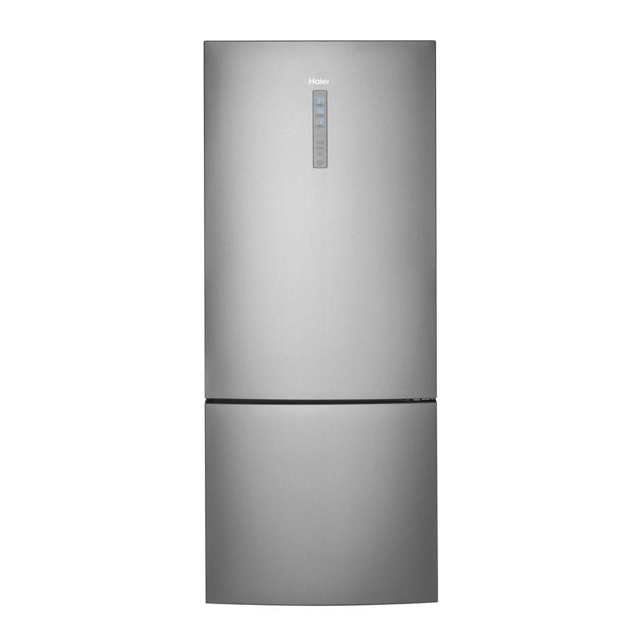 Haier 15 Cu Ft Bottom Freezer Refrigerator Stainless Steel
