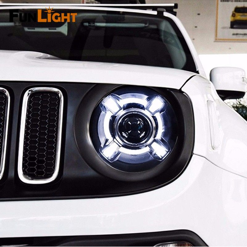 Free Shipping H4 Car Headlights For 2015 2017 Jeep Renegade Hid Headlight With Drl And Bi Xenon Projec Jeep Renegade 2015 Jeep Renegade Jeep Renegade Trailhawk