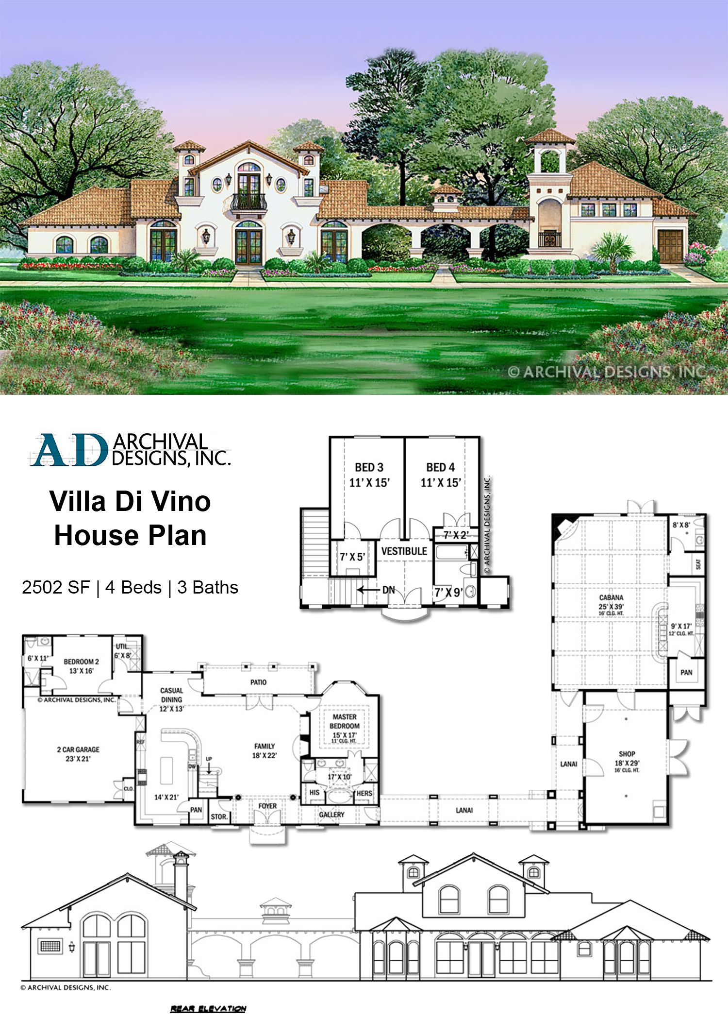 Villa Di Vino House Plan Courtyard House Plans Spanish Style Homes Spanish House
