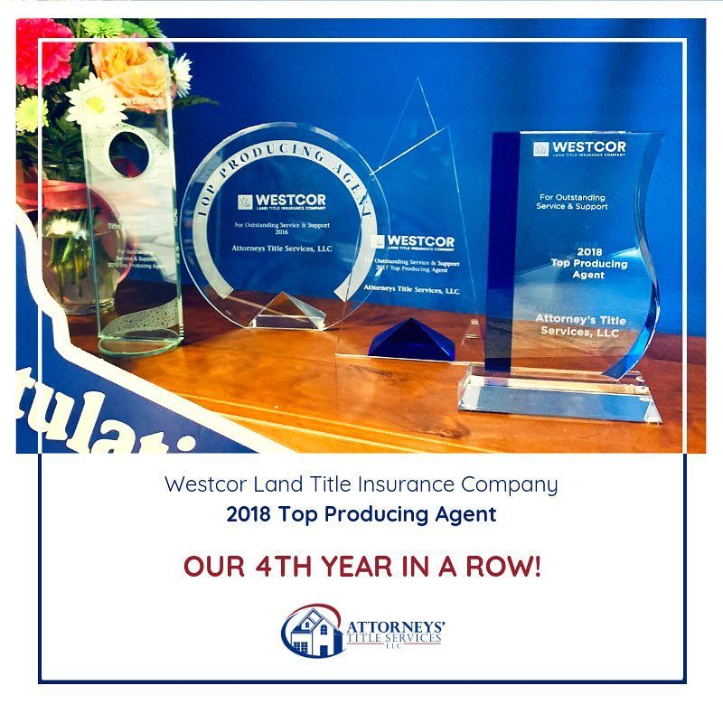 We Are Proud To Be A Westcor Top Producing Title Company 4 Years