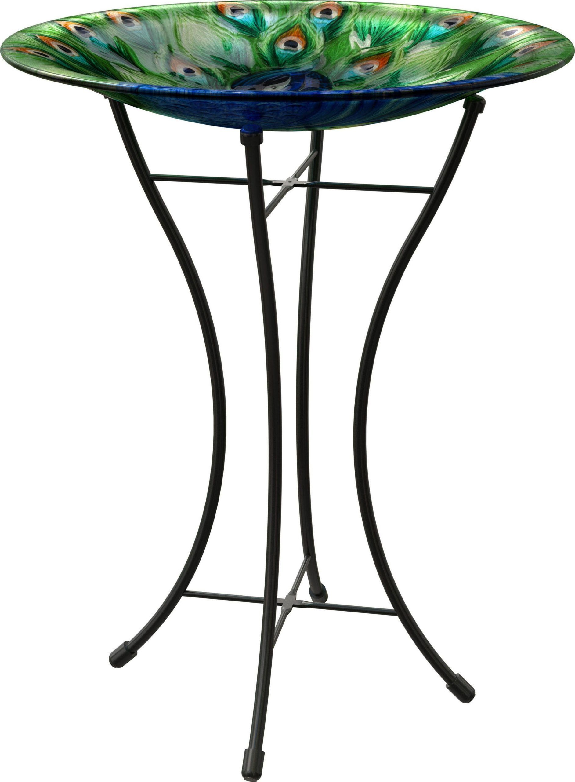 Birds Peacock Glass Bird Bath With Stand By Panacea 16 Inch Bath Bird Birds Glass Inch Panacea Peacock Stand In 2020 Glass Bird Bath Bird Bath Glass Birds