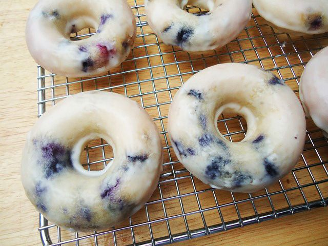 Baked Blueberry Donuts.