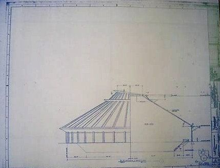 Wonderful 11 x 17 blueprint of Space Mountain at Disneyland Made - new no blueprint meaning
