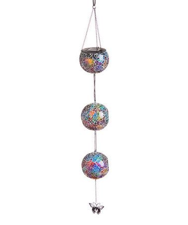 Another great find on #zulily! Pastel Mosaic Hanging Solar Decorative Globes #zulilyfinds  $24.99