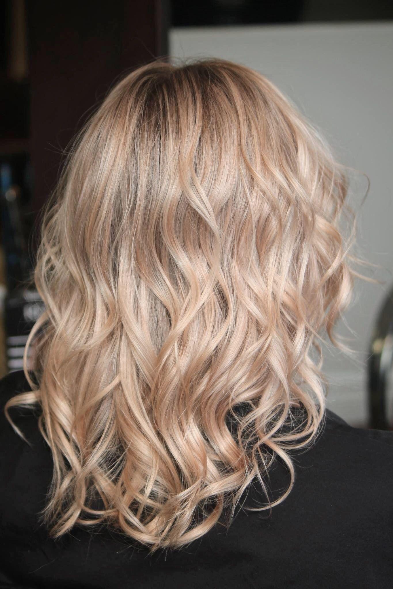 Champagne Rose Balayage Cololabo Conceptjp Hairstyle Rose Pink Hair Styles Long Hair Styles Balayage