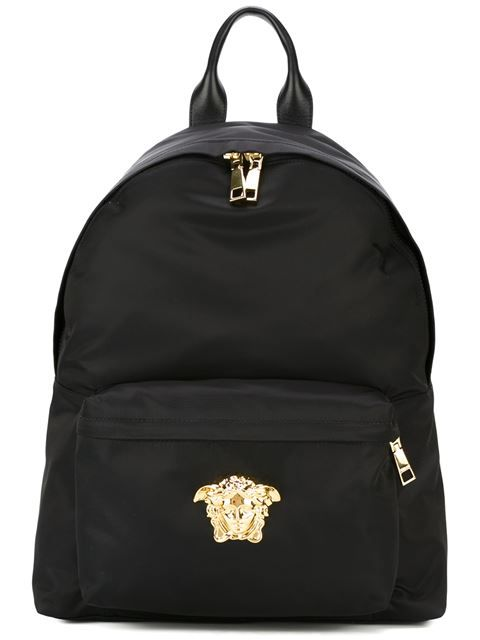 939d71d94b Shop Versace Medusa backpack in Eraldo from the world s best independent  boutiques at farfetch.com