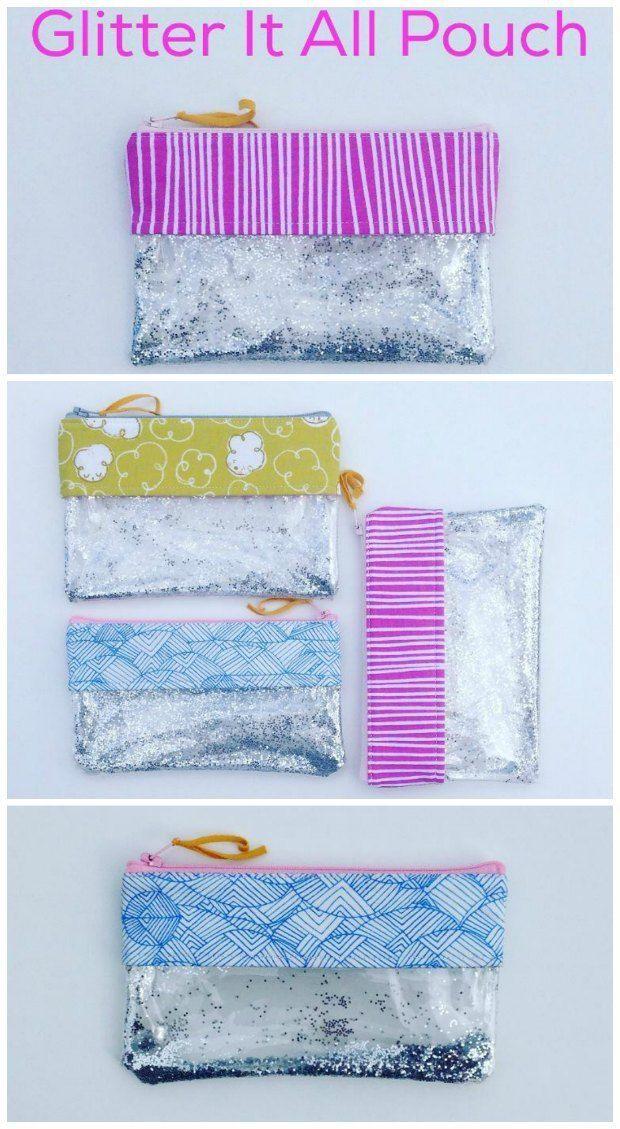 Glitter it all pouch - free pattern | Pinterest