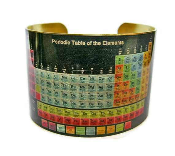 Periodic table of elements cuff bracelet brass or aluminum gifts periodic table of elements brass cuff bracelet urtaz Images