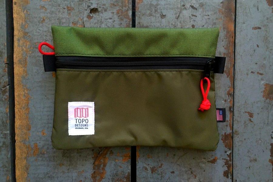 Topo Designs Medium Accessory Bag Olive Cordura