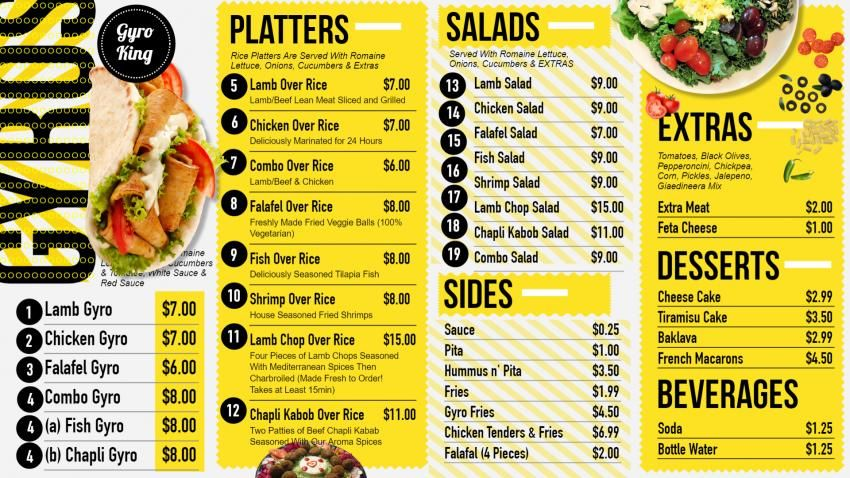 Digitalsignage Menu Board Template Design For Gyros Digital Menu
