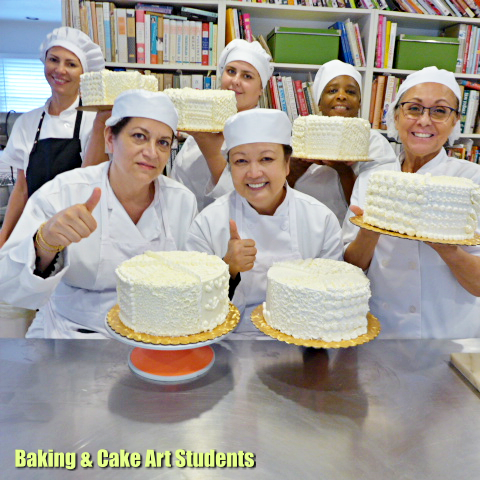 Students First Ever Decorated Cake Baking Cakes Decoration Baking Classes Cake Decorating Classes