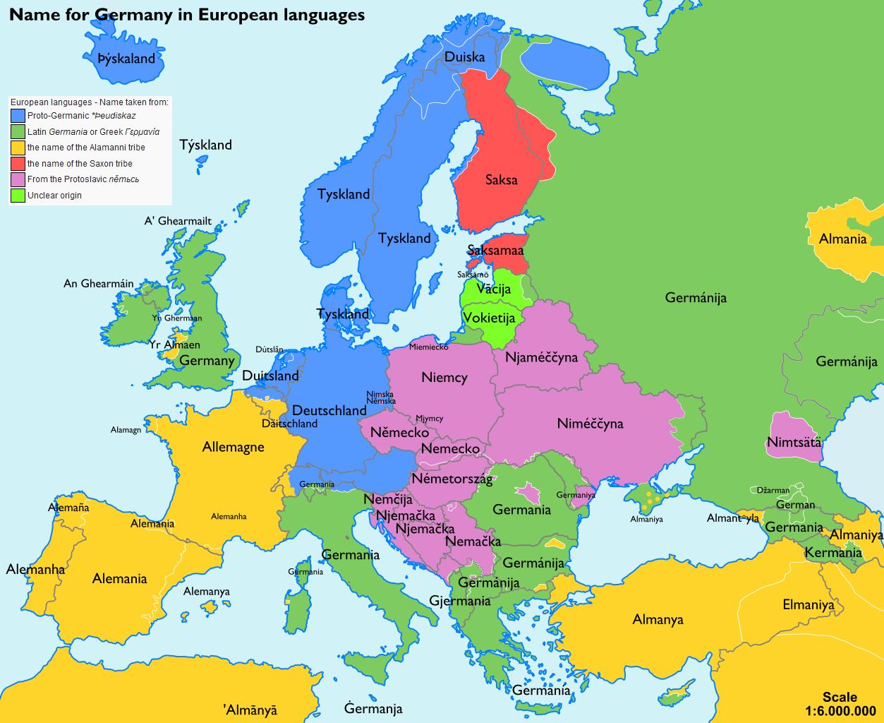 europa karte deutsch Landkartenblog: Europakarte zeigt wie Deutschland im Ausland heißt