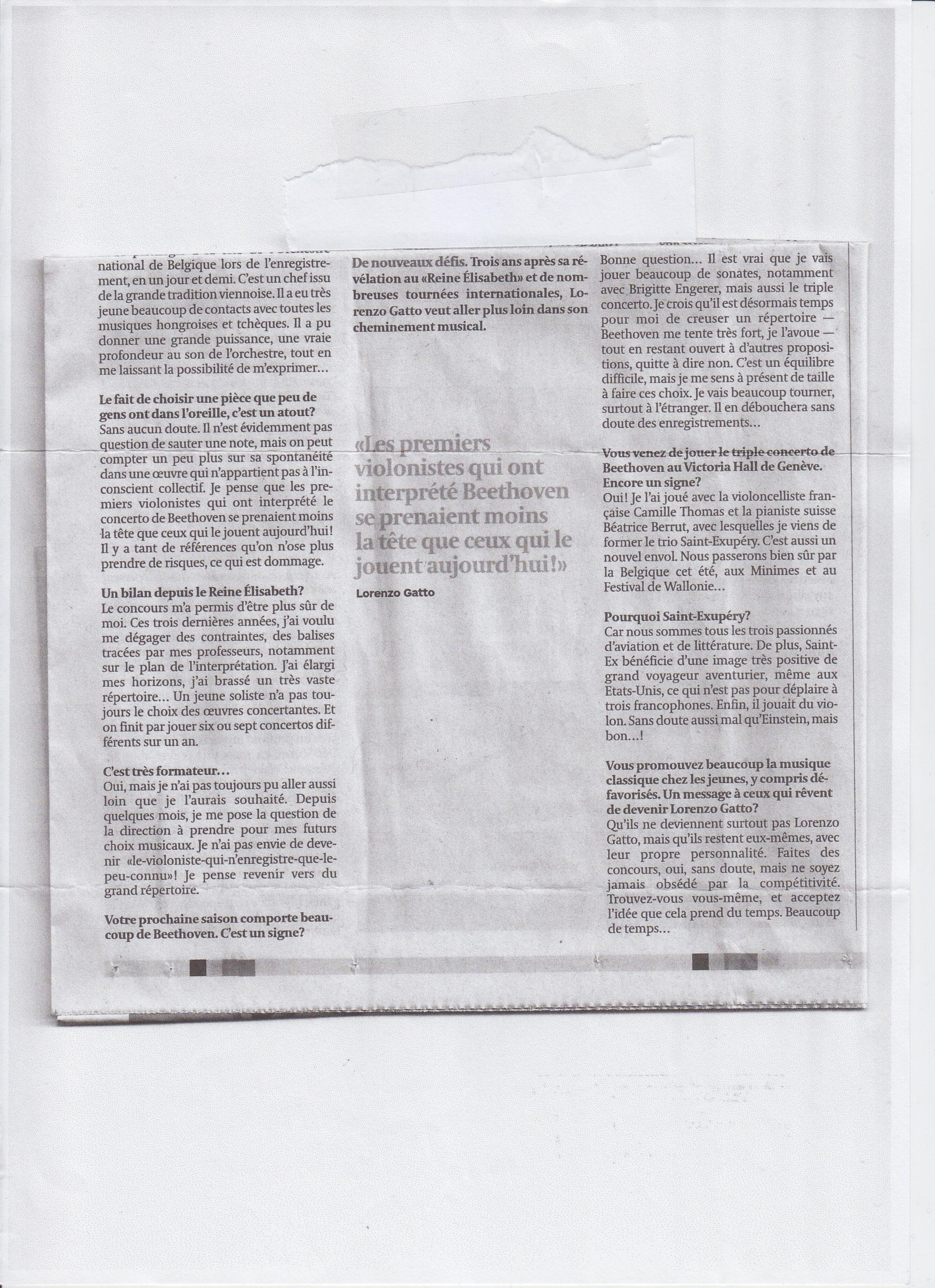 """#LorenzoGatto """"L'heure du tournant pour Lorenzo Gatto"""", Stéphane Renard, Les Echos, 21/04/2009. 2/2"""
