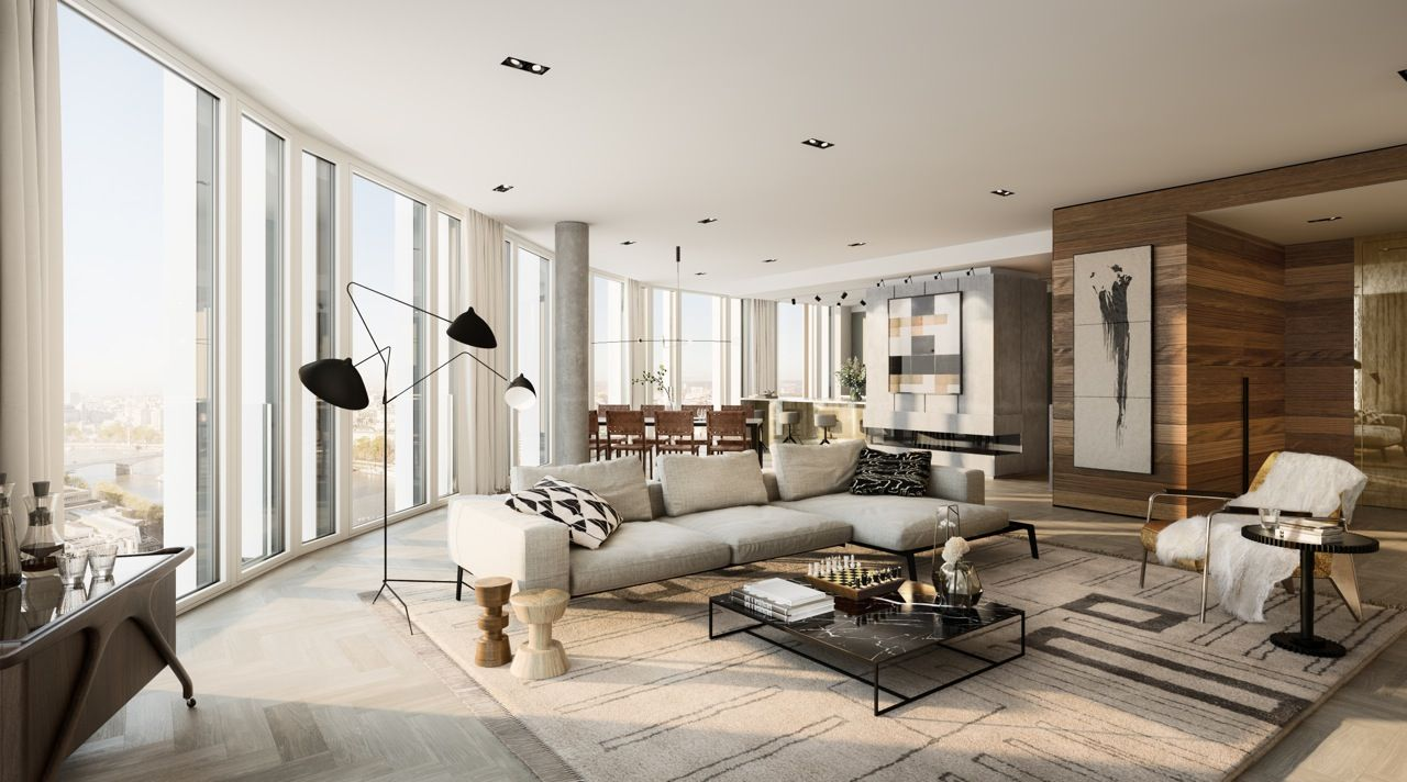 South Bank Tower Penthouse Living Room Studio Ashby Cit Beautiful Living Rooms Penthouse Living Room Luxury Apartments