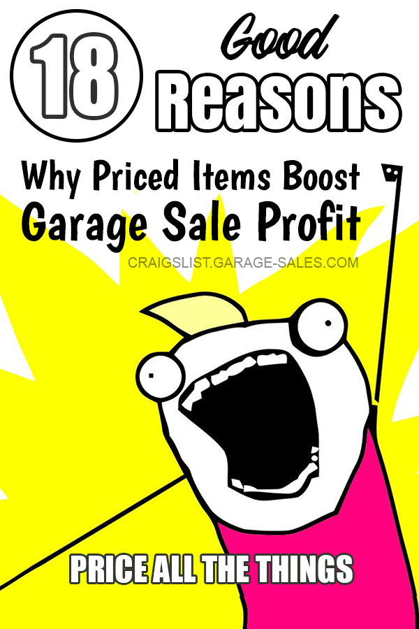 Pin On Garage Sale Pricing Tips