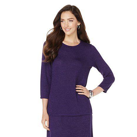 Antthony Melange Sweater Knit Top