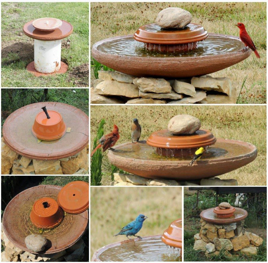 Bird bath fountain diy bird bath fountain diy bird bath