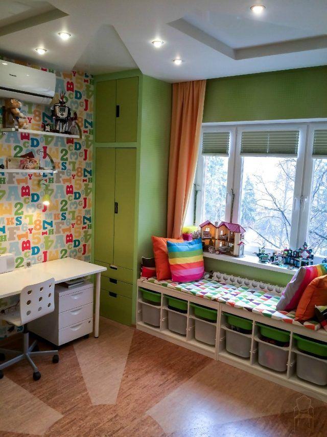 Tapeten kinderzimmer grün  wandfarben ideen kinderzimmer grün tapete buchstaben   Inspiration ...
