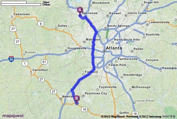 Mapquest Georgia.Driving Directions From Kennesaw Georgia To Sharpsburg Georgia