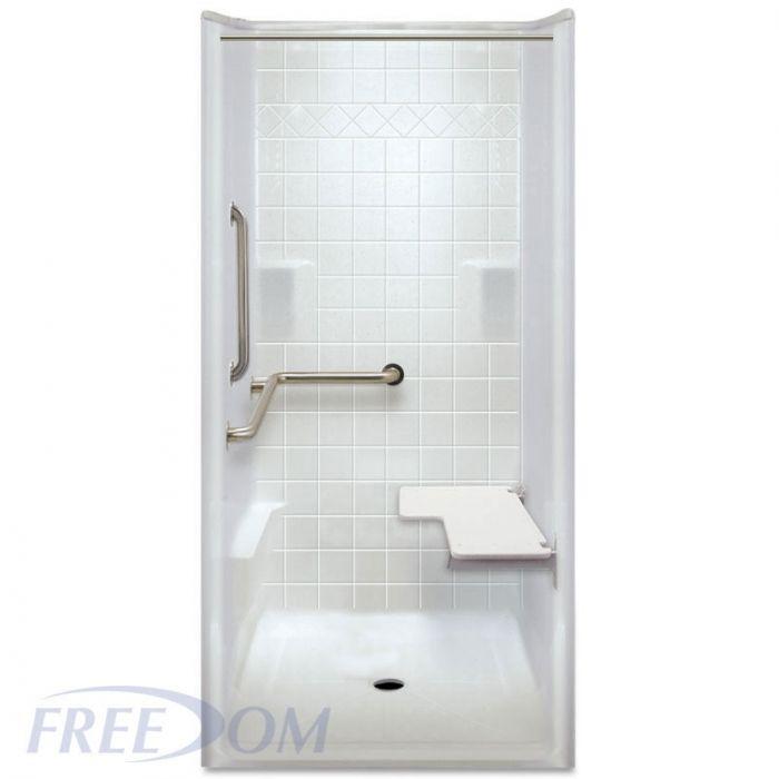 38 inch x 39 inch Freedom ADA Transfer Shower, Left Valve ...
