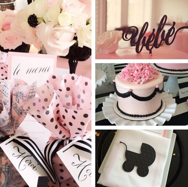 Parisian inspired baby shower