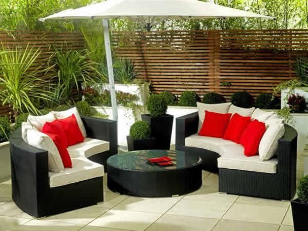 outdoor patio furniture sets for small spaces with umbrella ...