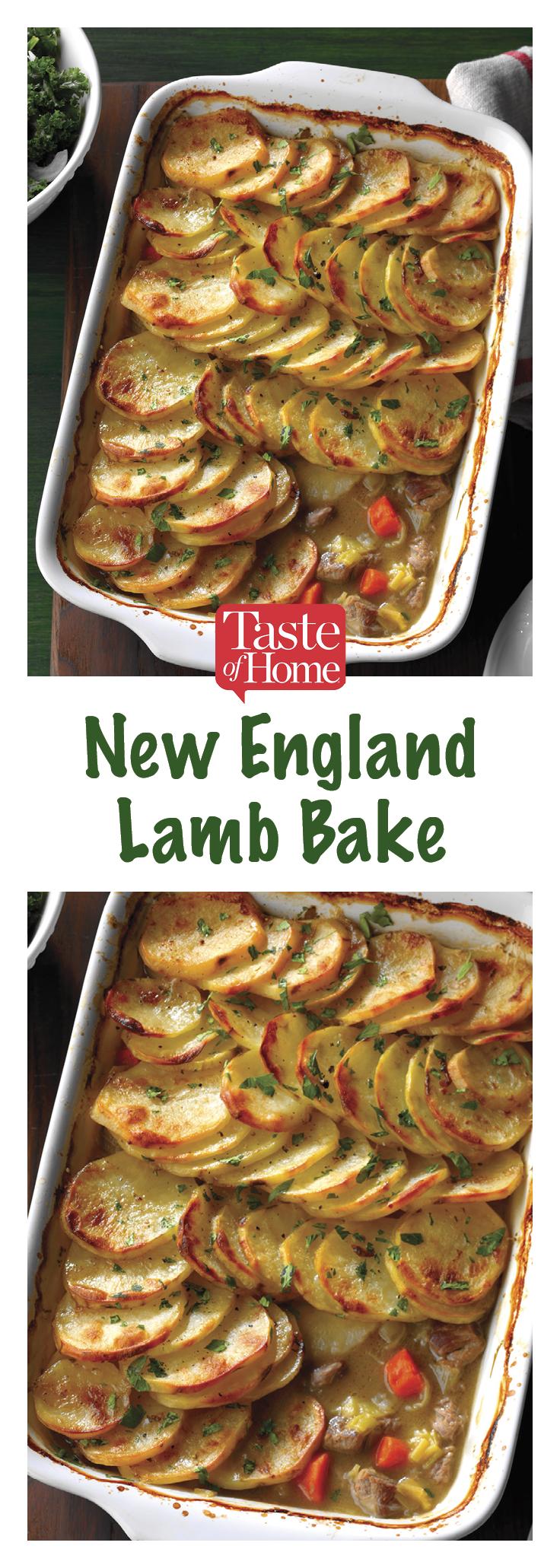 New England Lamb Bake Recipe in 2020 Baked dinner