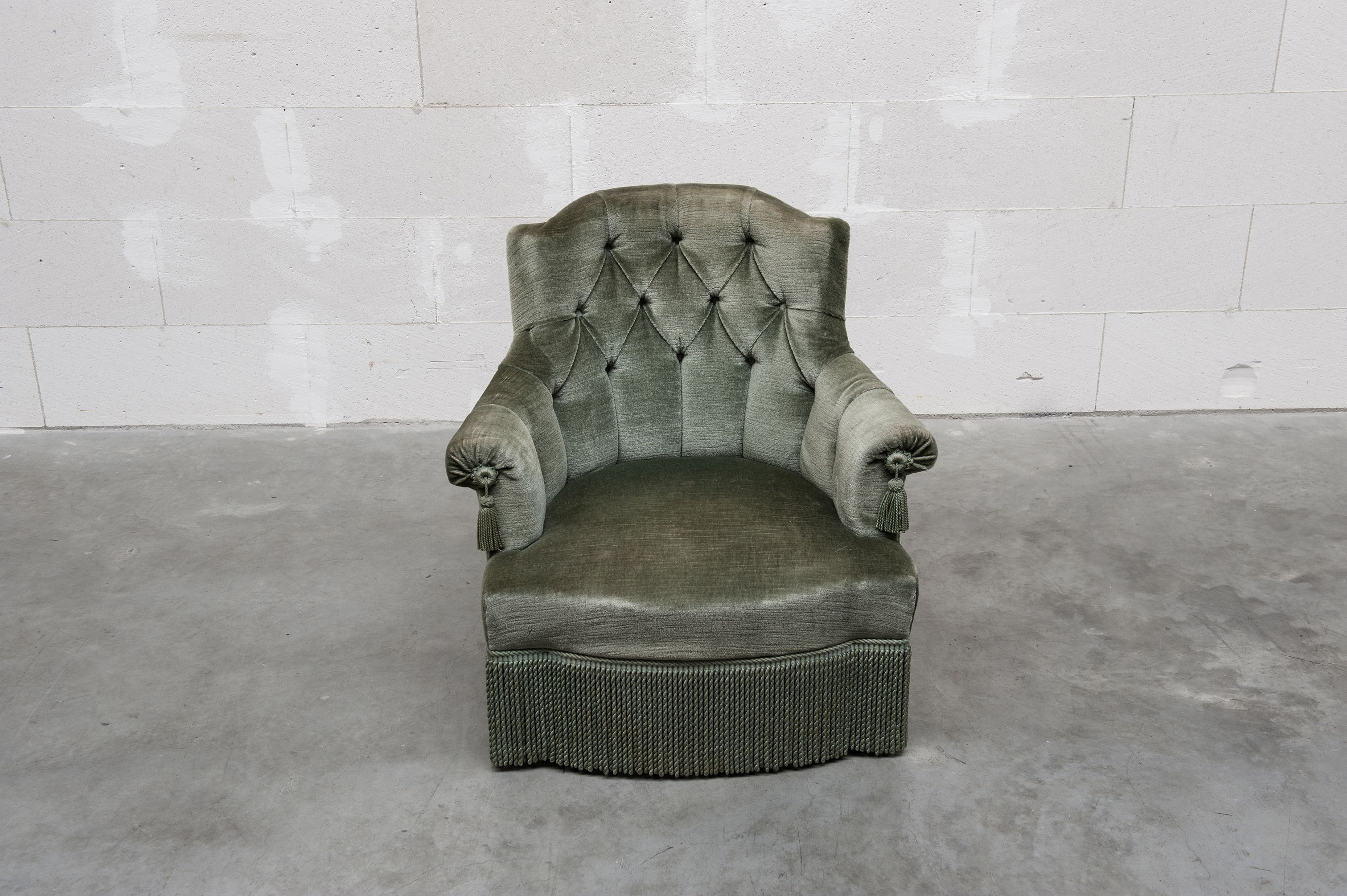 moss green suede armchair Collectables Seatings Pinterest