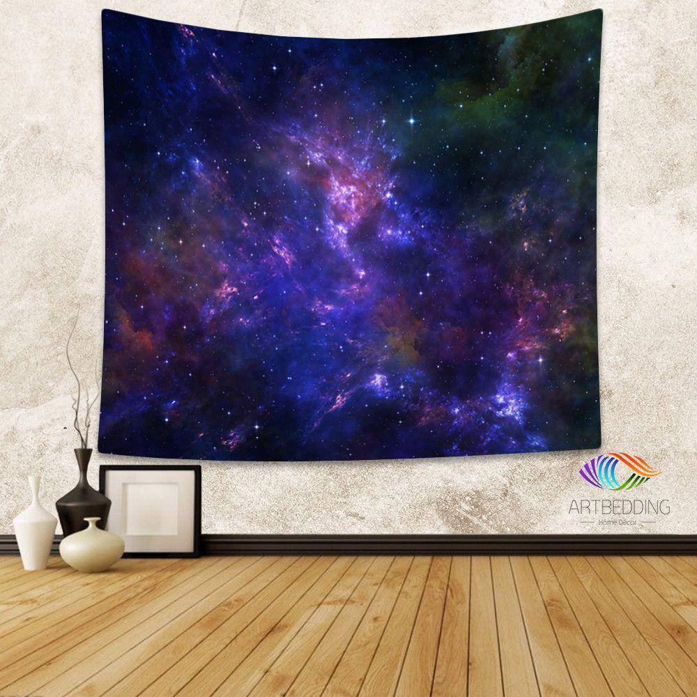 Star Wall Art galaxy tapestry,deep space nebula with stars wall tapestry, galaxy