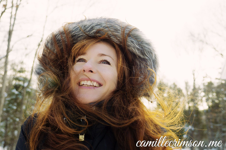 camille crimson - a big hint of cleavage ;-) | camille crimson