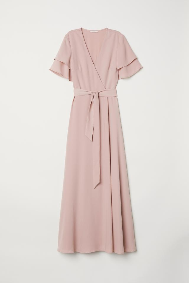 Wrap Dress - Powder pink -  | H&M US -   17 wrap dress 2018 ideas