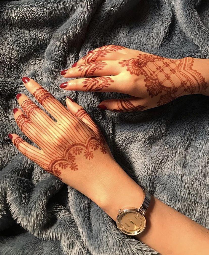 صور نقش الحناء Hand Henna Henna Designs Finger Henna Designs