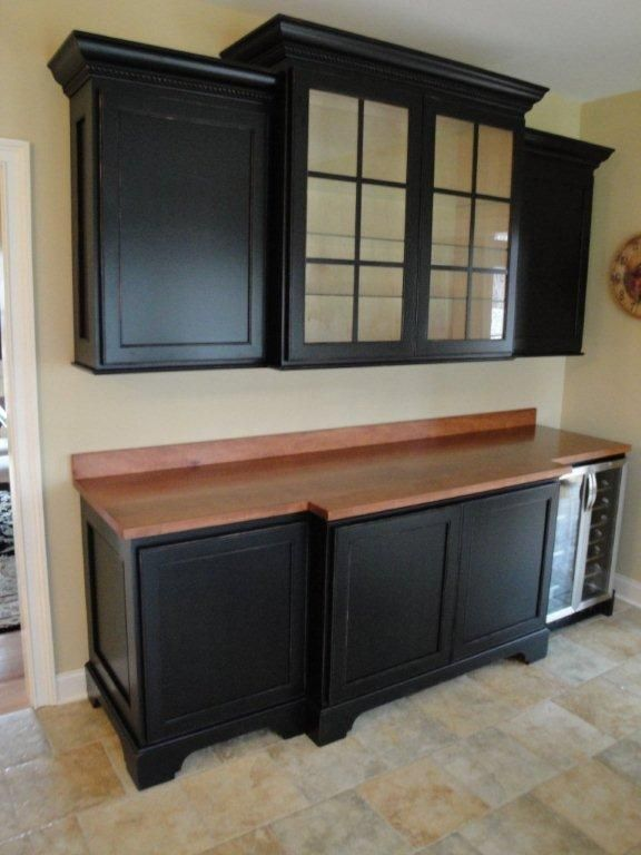 Family Room Beverage Center Easy To Do With Stock Cabinets