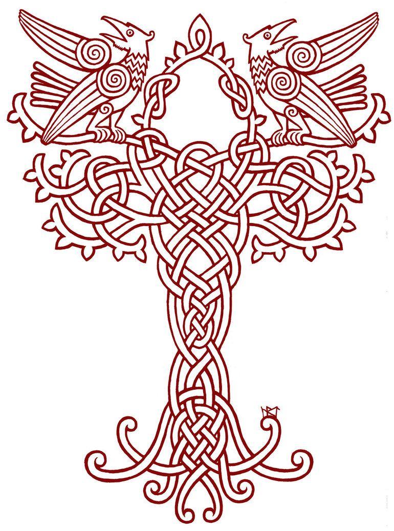 a tattoo design for the back of a viking celtic. Black Bedroom Furniture Sets. Home Design Ideas